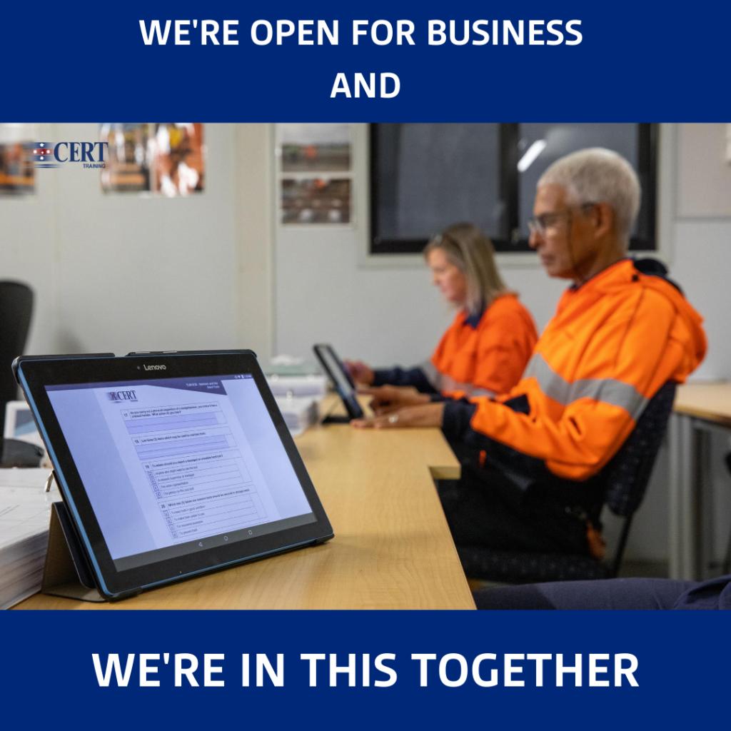 CERT Open for Business